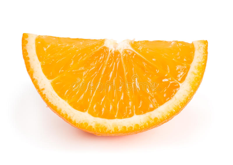 One Slice Of Orange Stock Image. Image Of Fruity, Fruit