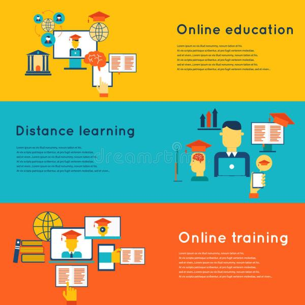 Online Education Banners Set Stock Vector - 49367884