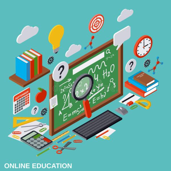 Online Education Learning Teaching Vector Concept Stock
