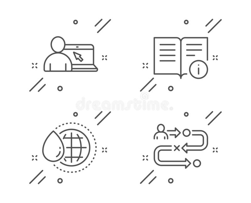 Technical Info, Algorithm And Bitcoin System Icons Set