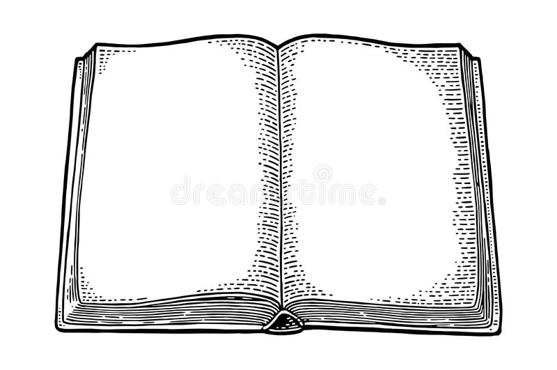 Open Book Isolated On A White Background Stock Vector
