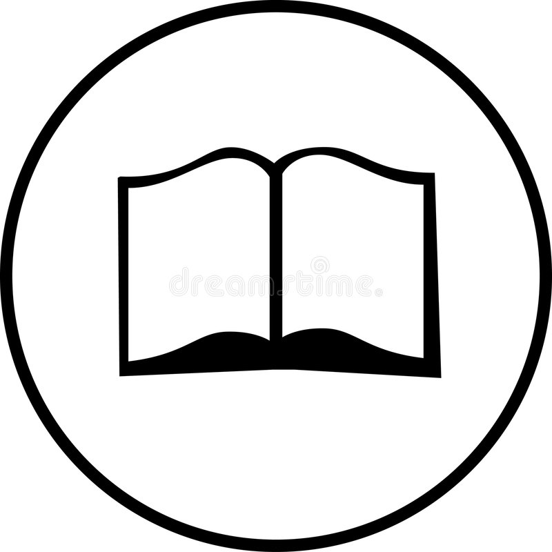 Open book vector symbol stock vector. Illustration of