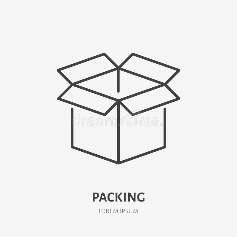 Packing stock vector. Illustration of compartment