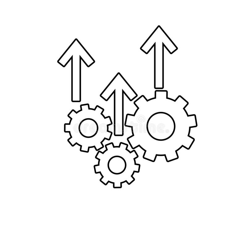Operational Excellence Icon, Vector Illustration Stock