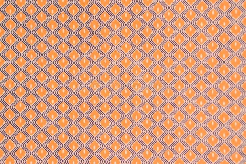 Oranje antiek behang stock illustratie Illustratie