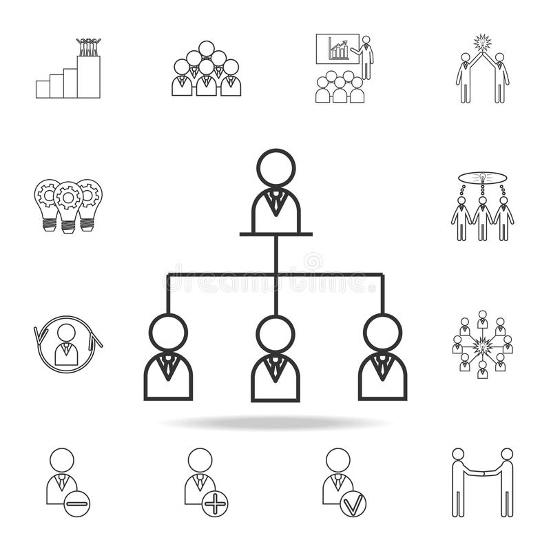 Drawing Organizational Chart On Board Stock Illustration