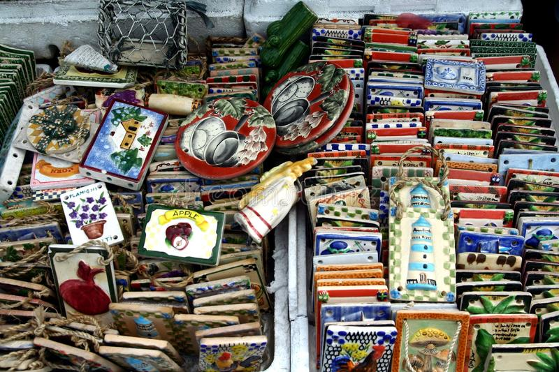 Ornamental And Decorative Ceramic Tiles Sold At A Store In