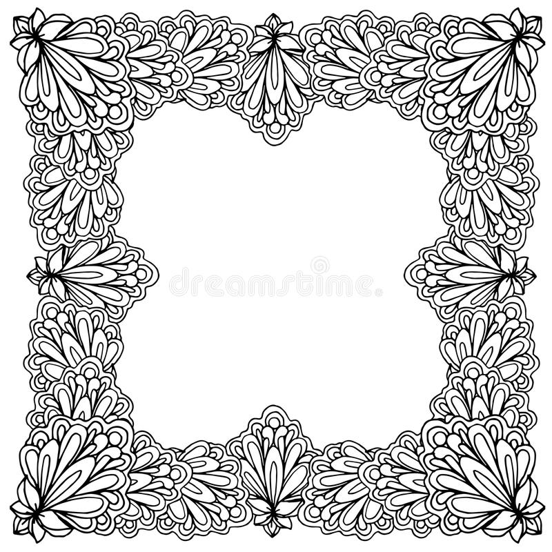 Ornamental Floral Frame With Space For Text, Greeting Card