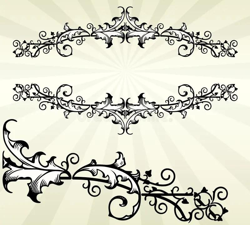 Acanthus Filigree Clip Art