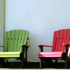 Red Adirondack Chairs Plastic Engraved Rocking Chair Outdoor Furniture On House Porch Stock Photo - Image Of Bright, Country: 9021454