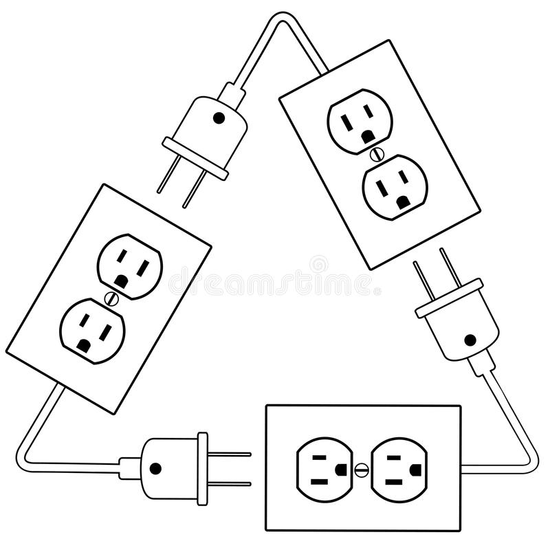 Outlets Plug Recycle Renewable Electric Energy Stock