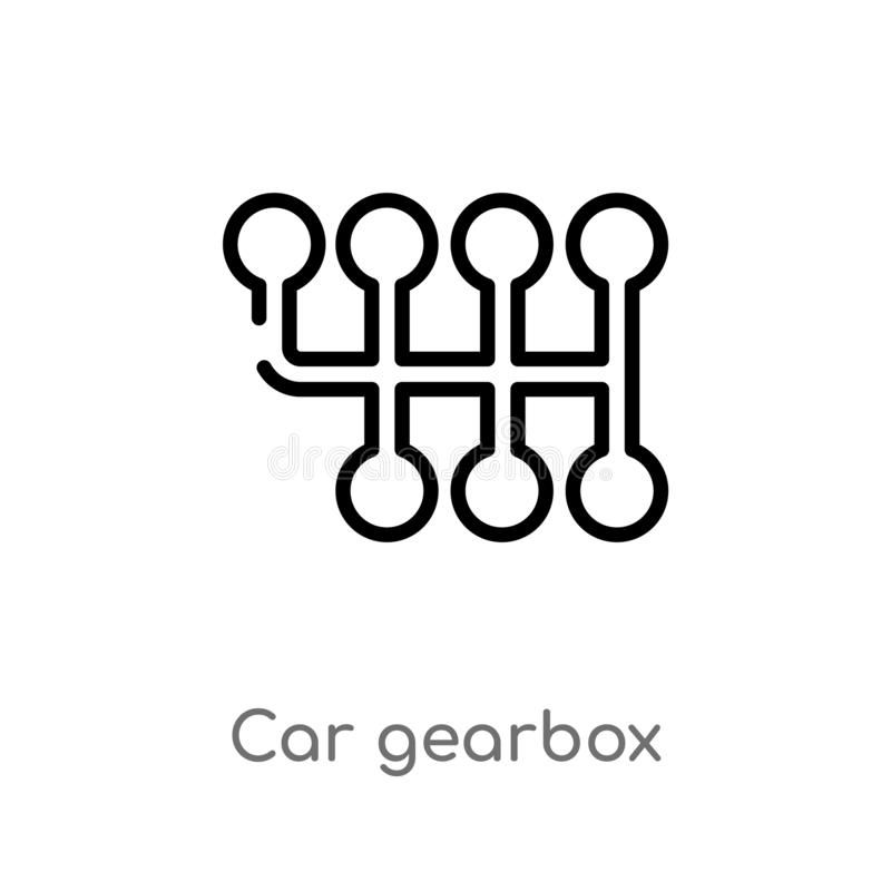 Outline Gearbox Concept. Vector Stock Vector