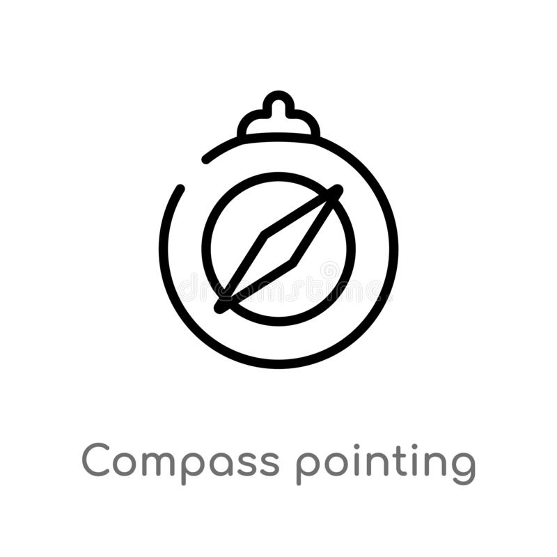 North Arrow Icon N Direction Vector Point Symbol Stock