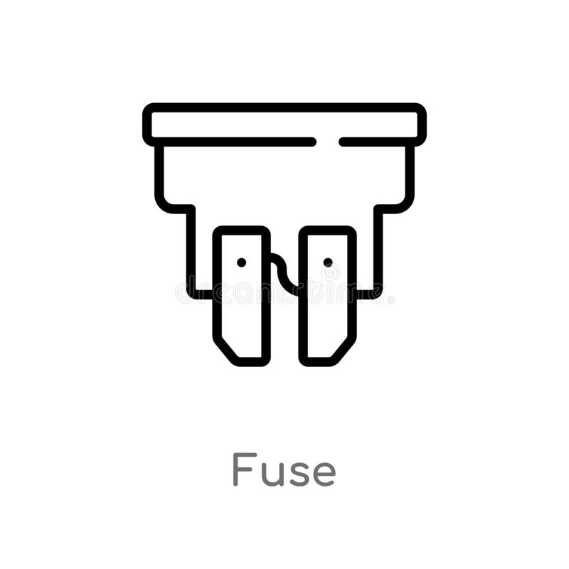 Fuse Box Isolated Icon. Simple Element Illustration From