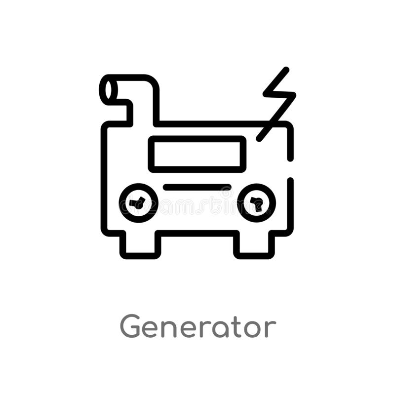 Diesel Generator Icon Isolated On White Background Stock
