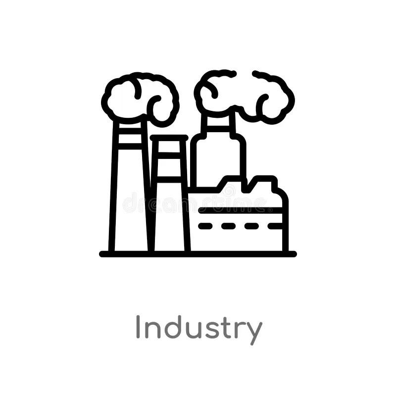 Factory on desert stock illustration. Illustration of