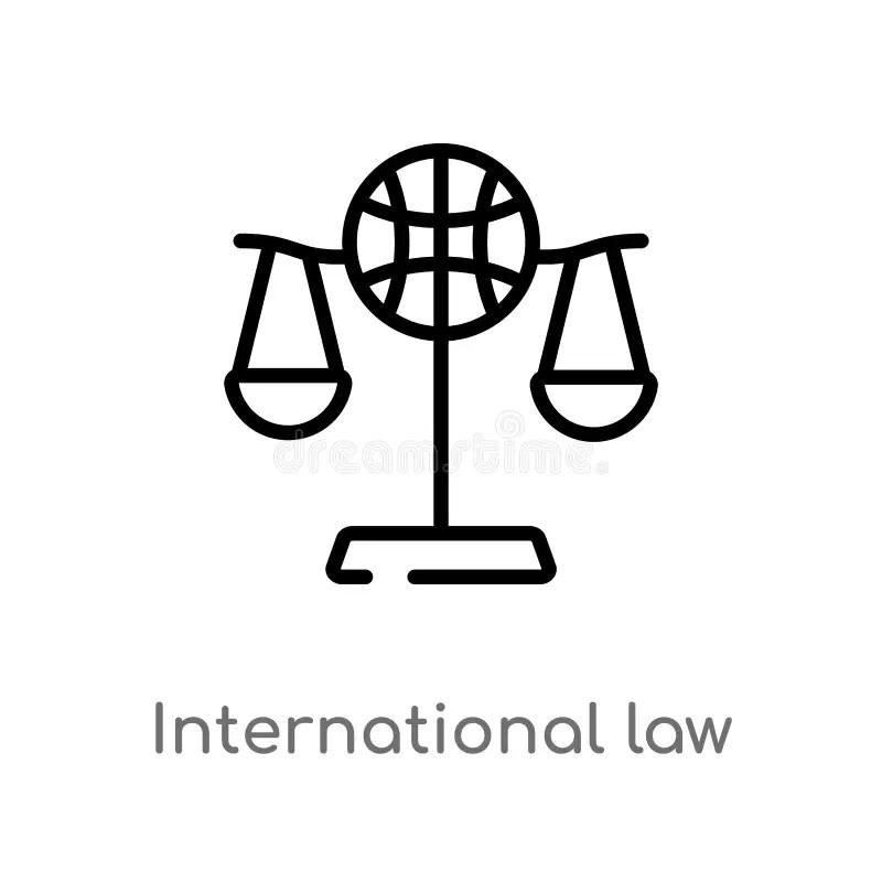 International Law. Legal Concept Illustration Stock