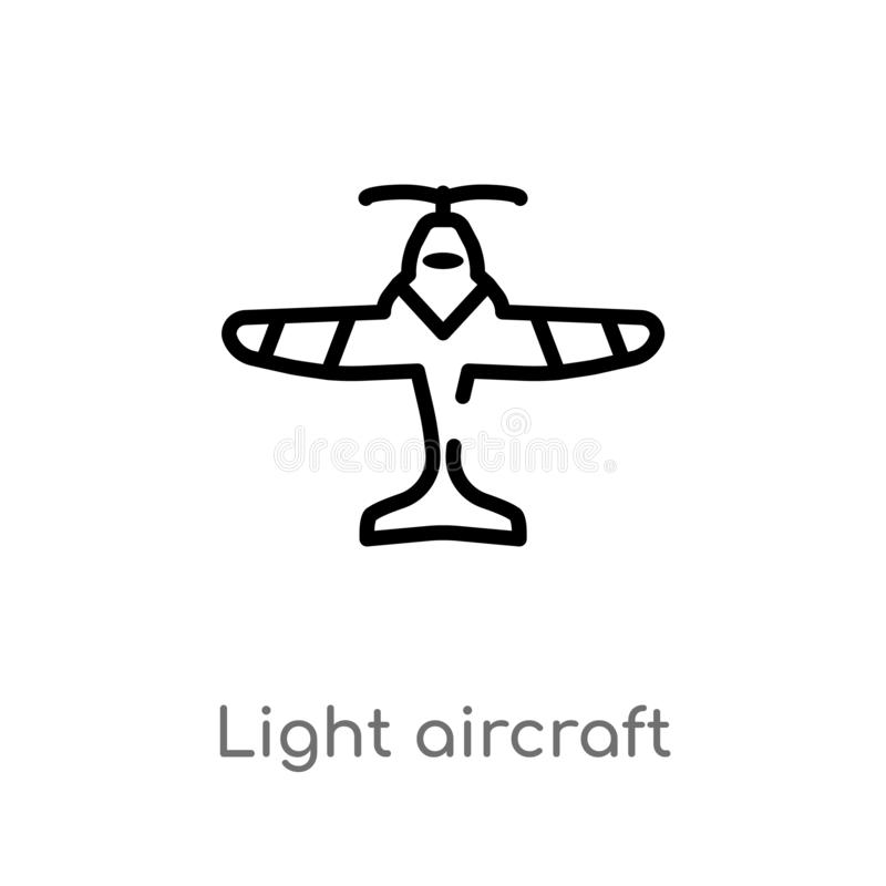 Vintage Plane With Banner Vector Symbol Icon Stock