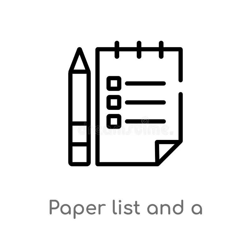 Paper Pencil Stock Illustrations