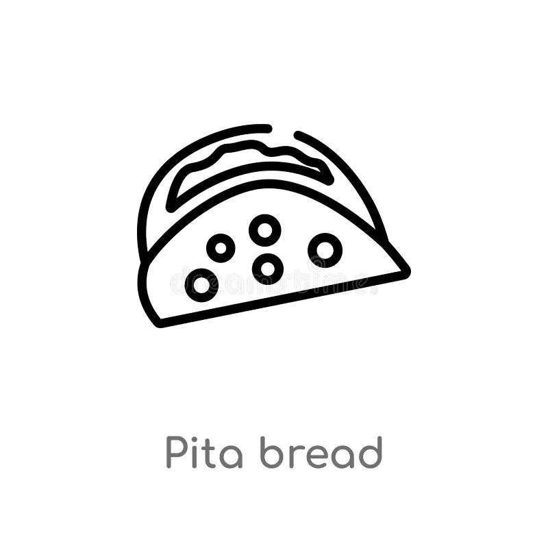 Toast bread line icon. stock vector. Illustration of