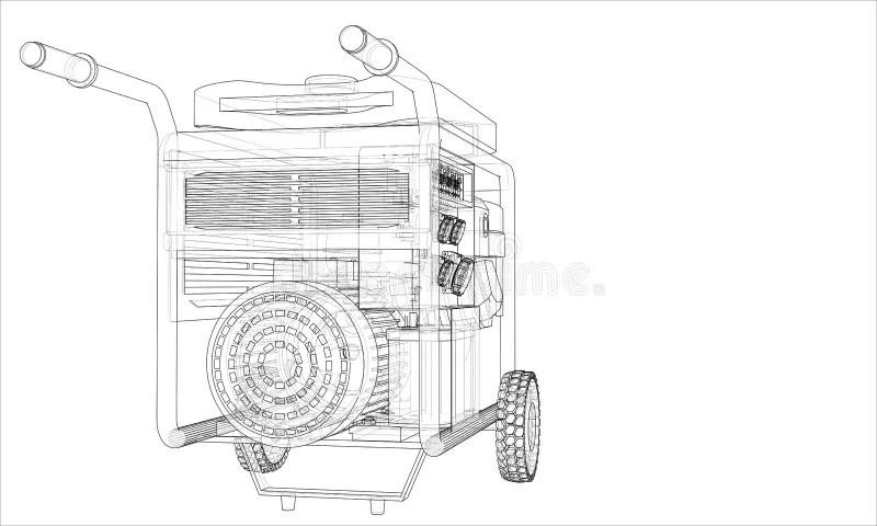 Portable Generator Stock Illustrations