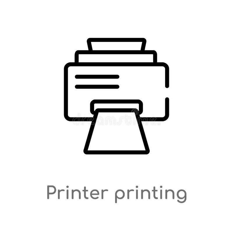 Printer and user manual stock illustration. Illustration