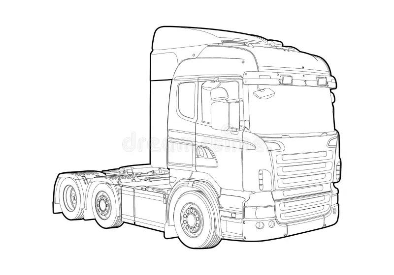 Outline truck stock illustration. Illustration of fuel