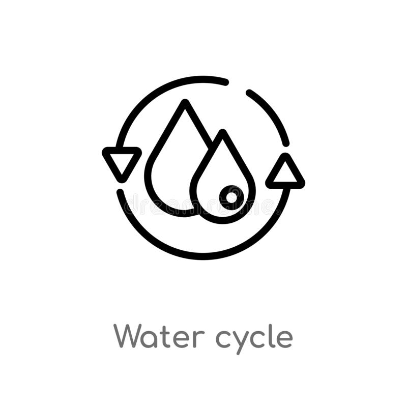 Water cycle stock illustration. Illustration of natural