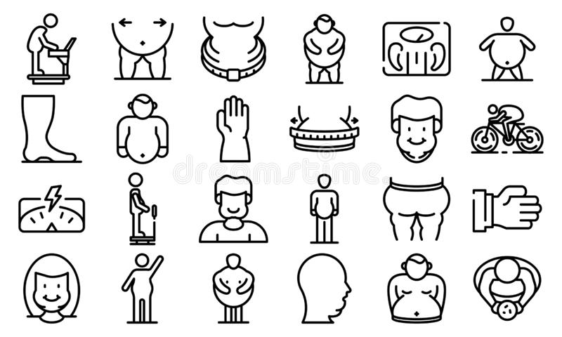 Overweight family symbol stock vector. Illustration of