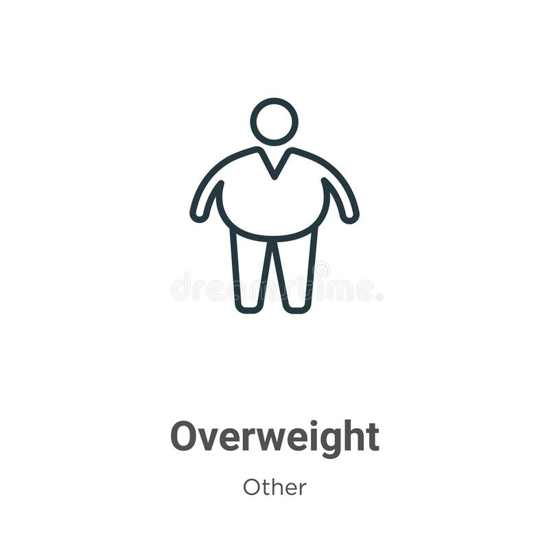Vector Overweight Obese Female Vs Slim Fit Healthy Body