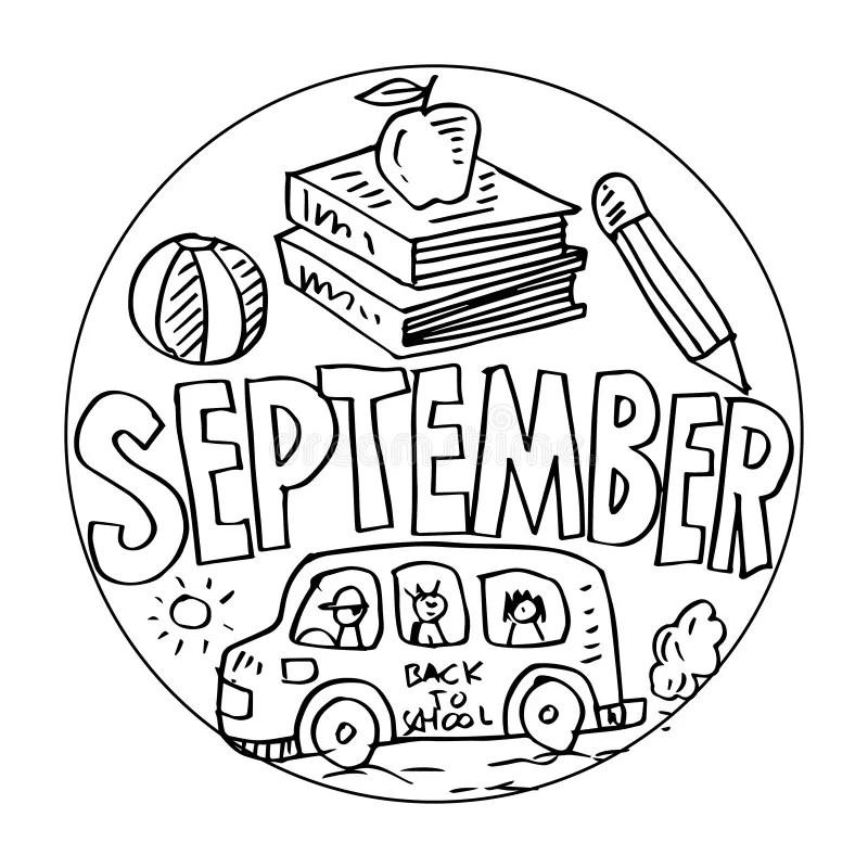 Livro Para Colorir, ônibus Escolar Ilustração do Vetor