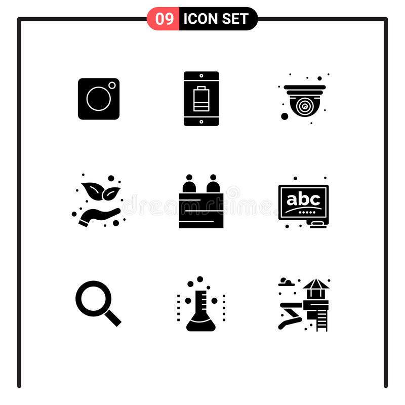 Interview, Medical Calendar And Info Icons Set. Research