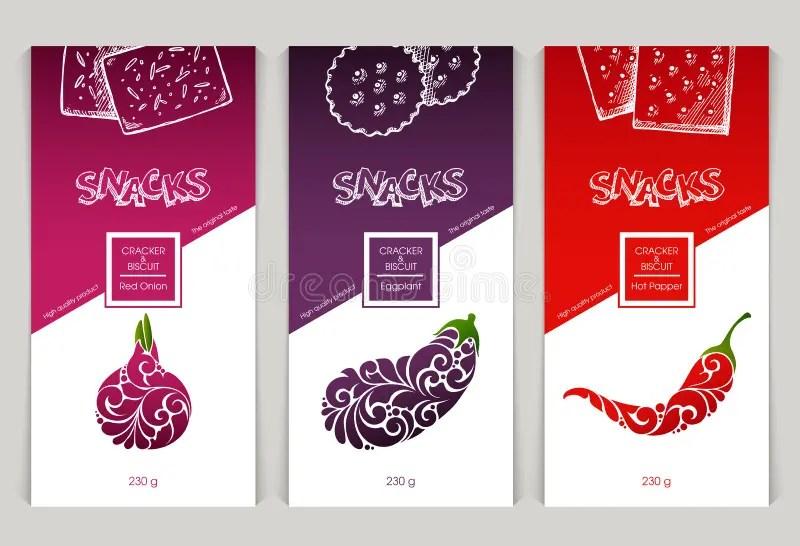 Packaging Design Snack Food Stock Vector Illustration Of Ingredient Illustration 80812314