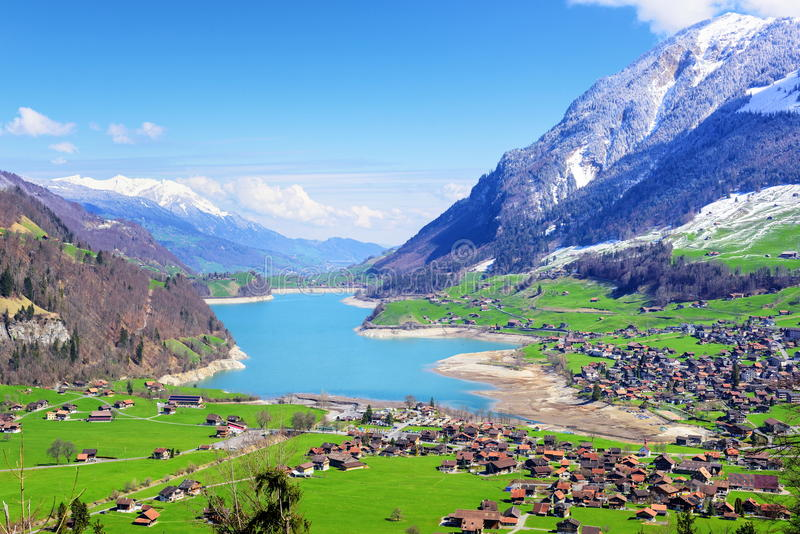 Paesaggio Alpino Svizzero Svizzera Fotografia Stock  Immagine di neve montagne 52477436