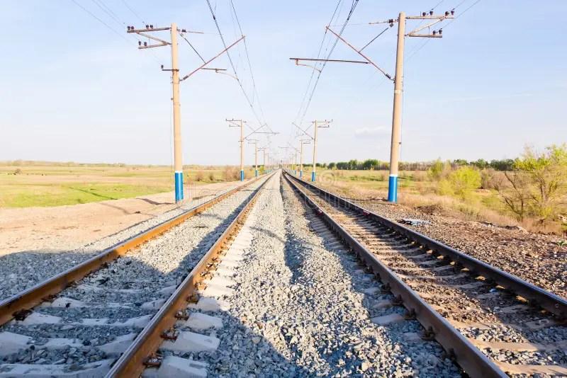 Paesaggio Con La Prospettiva Della Ferrovia Immagine Stock  Immagine di russia caduta 41519555
