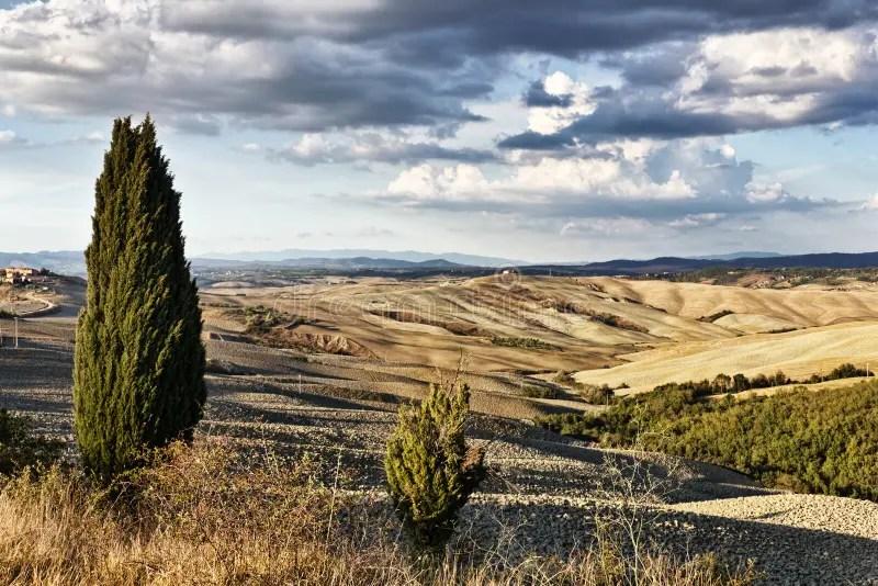 Paesaggio del Crete Senesi immagine stock Immagine di