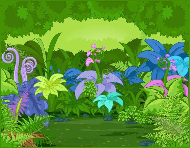Paesaggio della giungla illustrazione vettoriale Illustrazione di freschezza  41637526