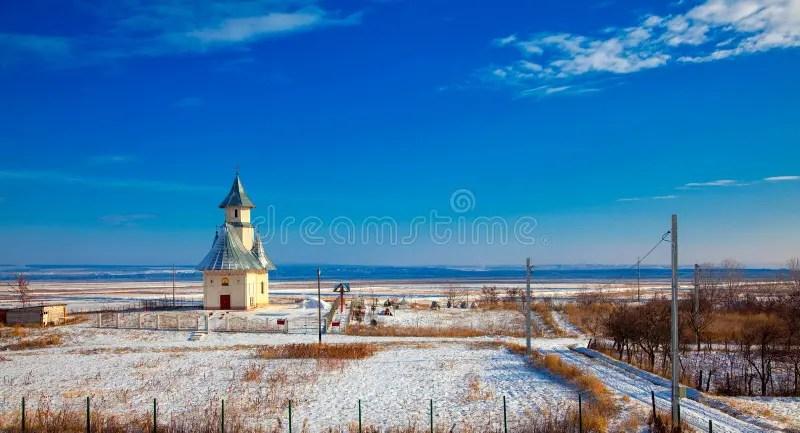 Paesaggio Di Inverno Con La Chiesa Immagine Stock  Immagine di rurale orizzontale 47884257