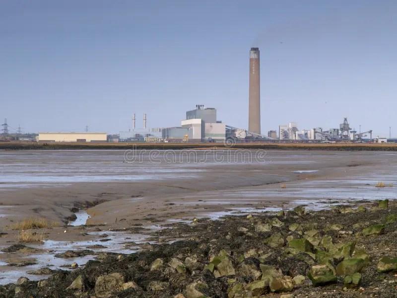 Paesaggio industriale fotografia stock Immagine di clima