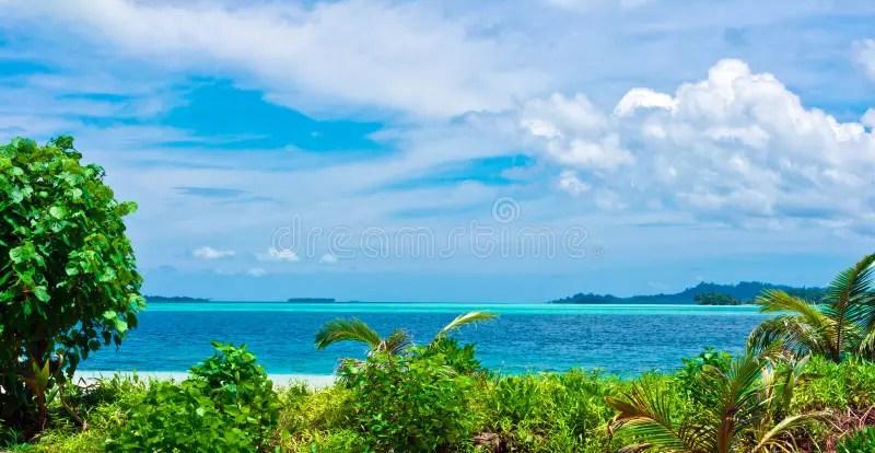 Paesaggio Tropicale Delle Isole Di Deserto Fotografia