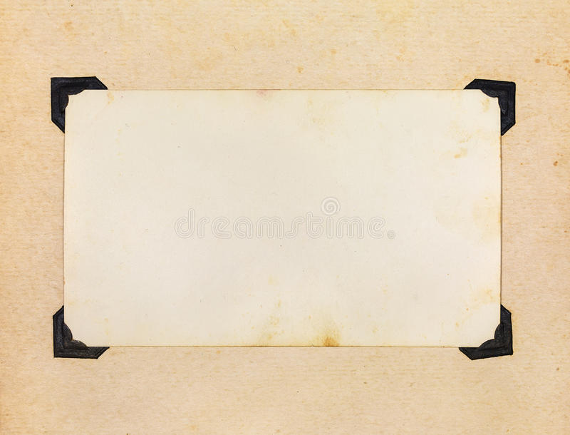 Page Of Vintage Photo Album Stock Image