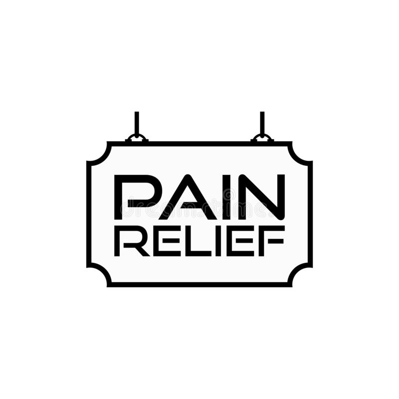 Pain Relief Sign, Pain Relief Icon Or Logo Stock Vector