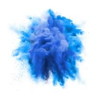 Paint Powder Green Color Explosion Particle Dust Cloud ...