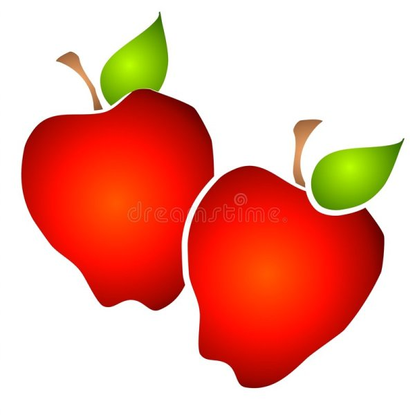 pair of big red apples clipart