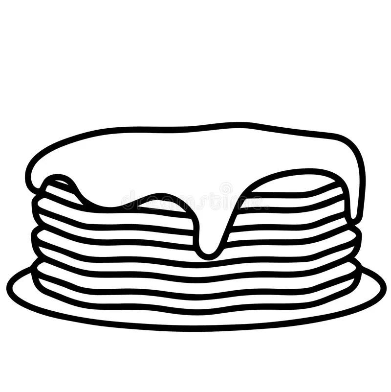 Pancake Logo Stock Illustrations