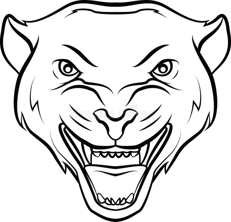 Panther stock vector. Illustration of dark, beast, cougar