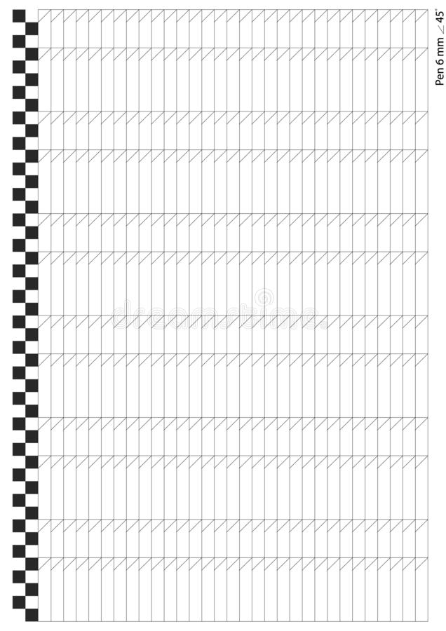 School Notebook Paper Sheet. Exercise Book Page Background