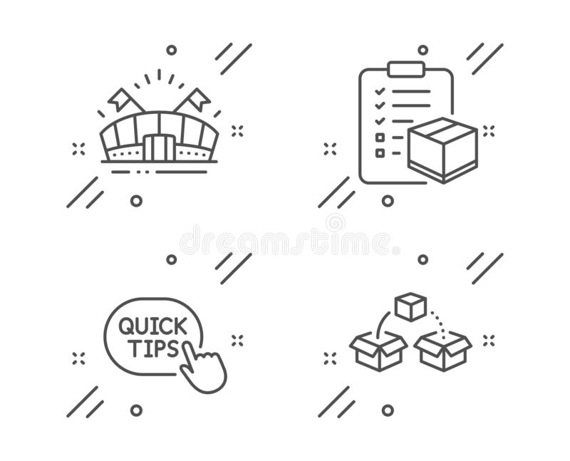 Checklist, Quick Tips And Resilience Icons Set. Diagram
