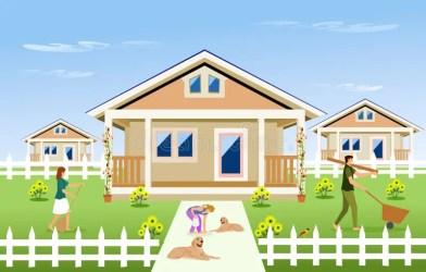 Background House Garden Clipart