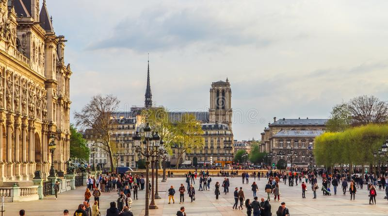 Hotel De Ville Square In Paris Editorial Image Image Of